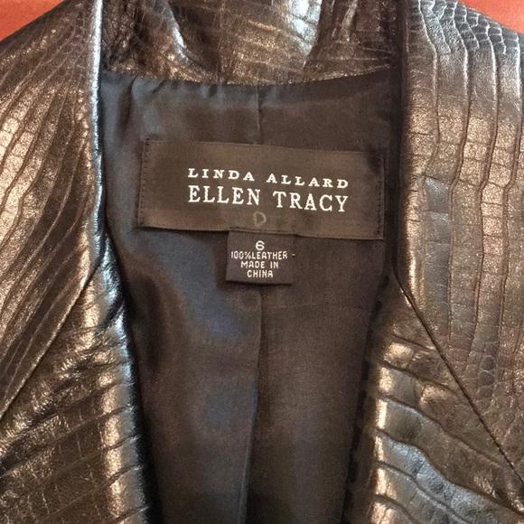 Ellen Tracy Jackets & Blazers - Linda Allard Ellen Tracy 100% leather jacket.